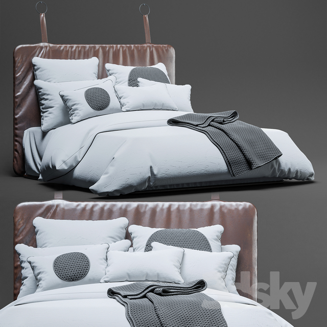 heatherly design piper bedhead and bed sheet
