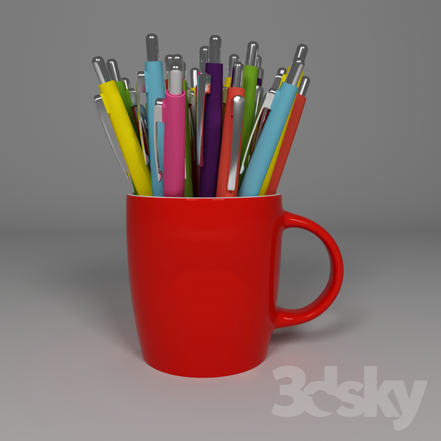 3d models: Other decorative objects - stationery mug