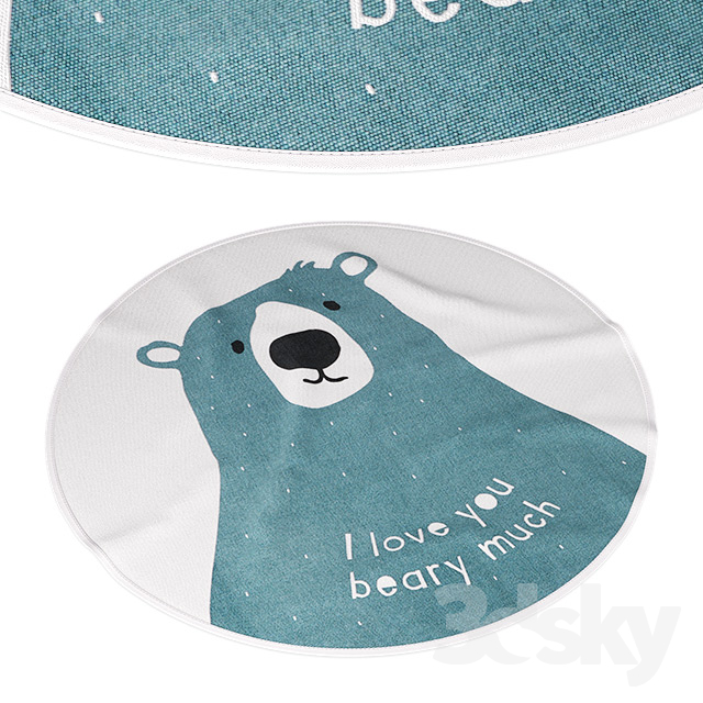 Round Rug H & M Home (I Love You Beary Much)