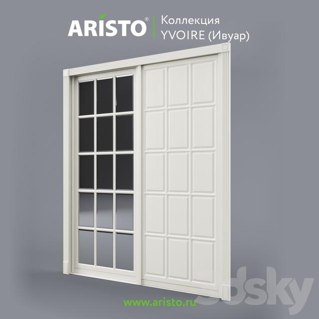 OM Sliding doors ARISTO, Ivoire, Yv.100.3, Yv.100.2