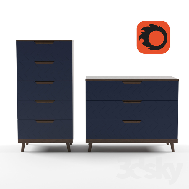 R-Home, Chests 3 and 5 drawers Scandi Collection