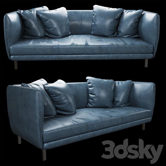 Tindra leather sofa_Uttermost