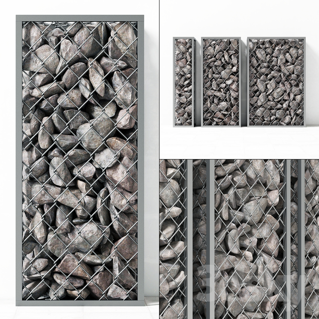 Small Gabion stone rockl / Small gabions with stones