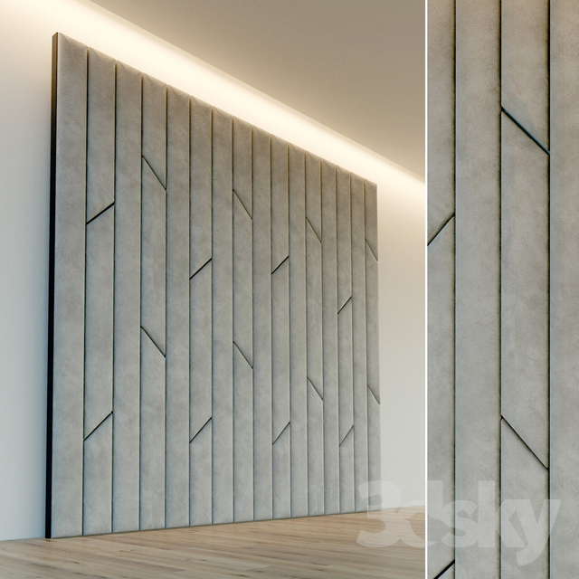 Decorative wall. Soft panel. 65