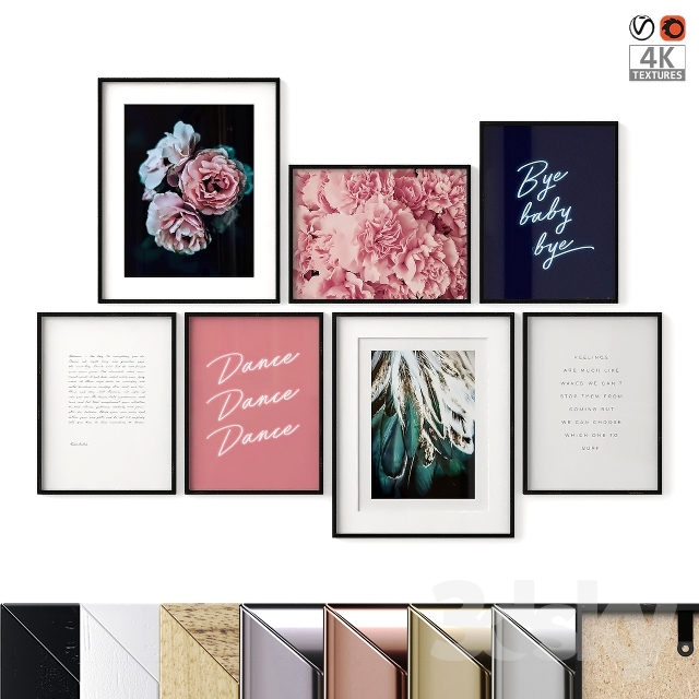 """Poster Set """"Pink And Blue"""""""