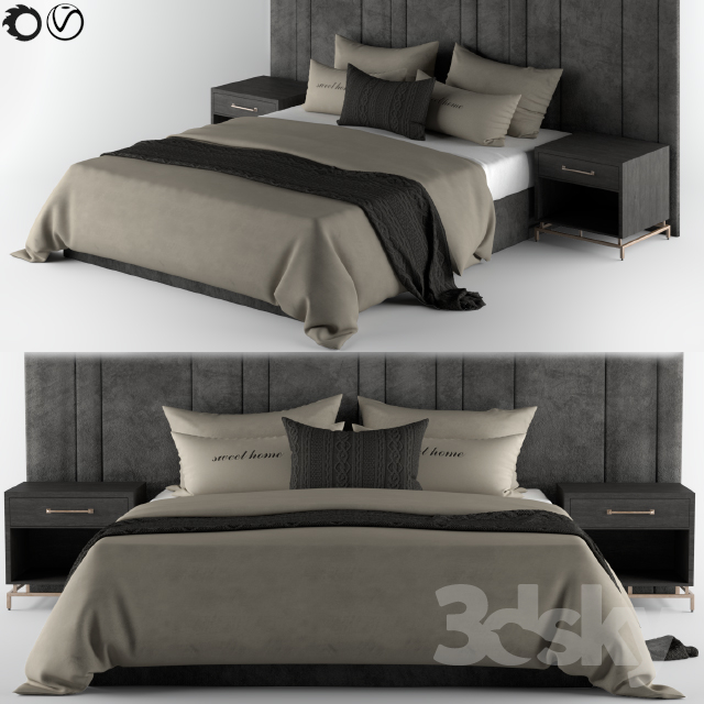 Bed-Set Cream & Black