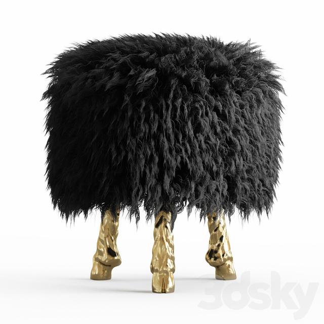 Mongolian lamb wool chair