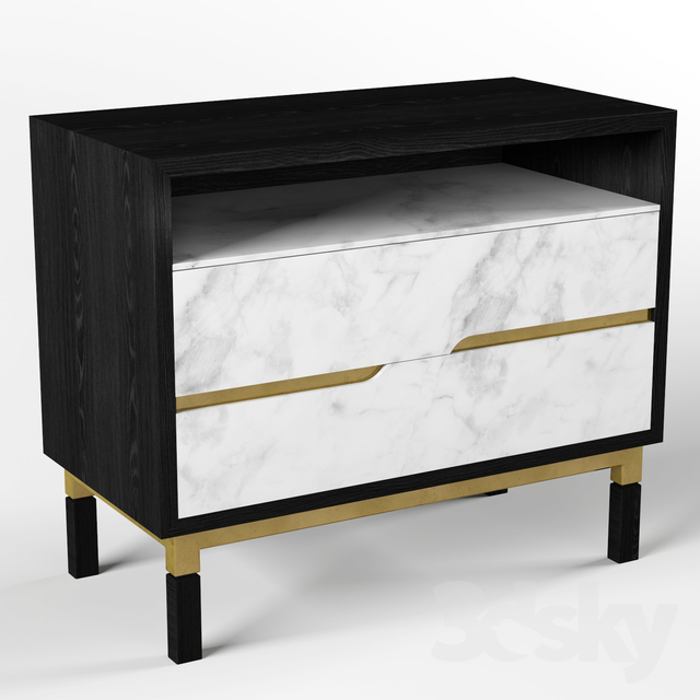 Chest of drawers Jonathan Charles Fine Furniture JC Modern - Fusion Collection