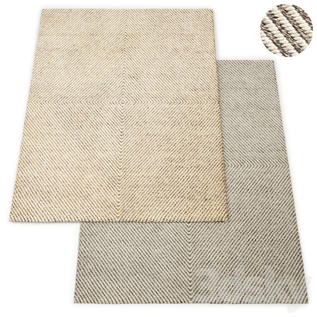 Axiom Handwoven Wool Flatweave Rug RH Collection