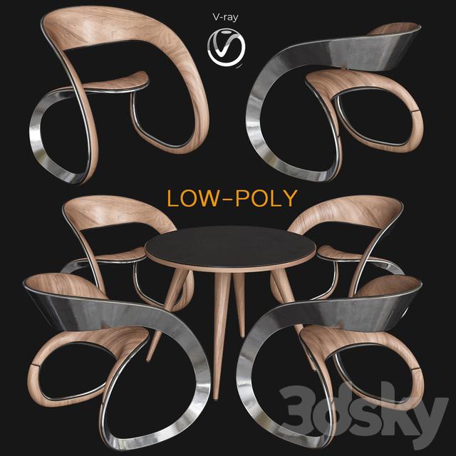 Cadeiras design (low poly)
