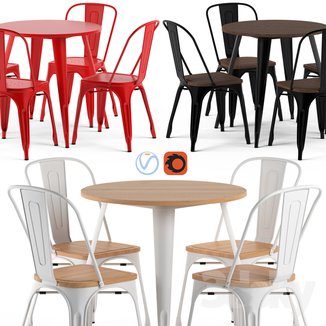TOLIX chairs and table