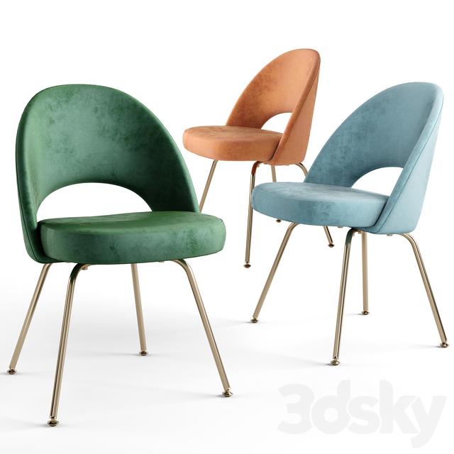 Saarinen Executive Armless Chairs.