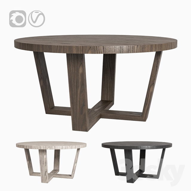 3d models: Table - Restoration Hardware ANTOCCINO ROUND ...
