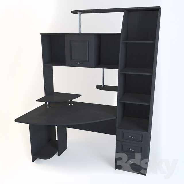 3d models: Office furniture - Computer desk