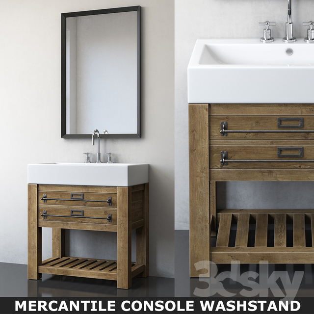 MERCANTILE CONSOLE WASHSTAND