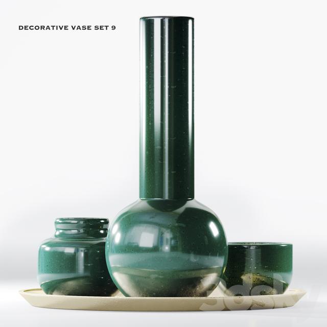 decorative vase set 9