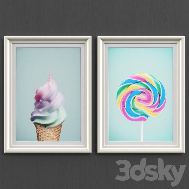 Ice cream and lollipop