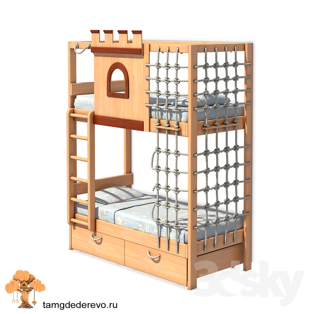 Children's bunk bed (model 207)