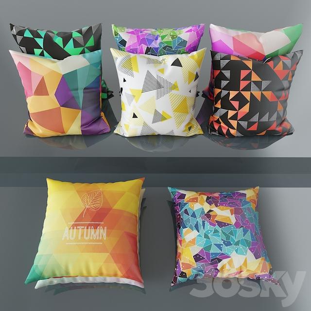 Set of decorative pillows No. 6