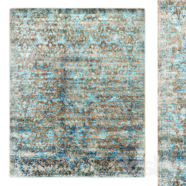 Custom Flore Hand-Knotted Rug RH