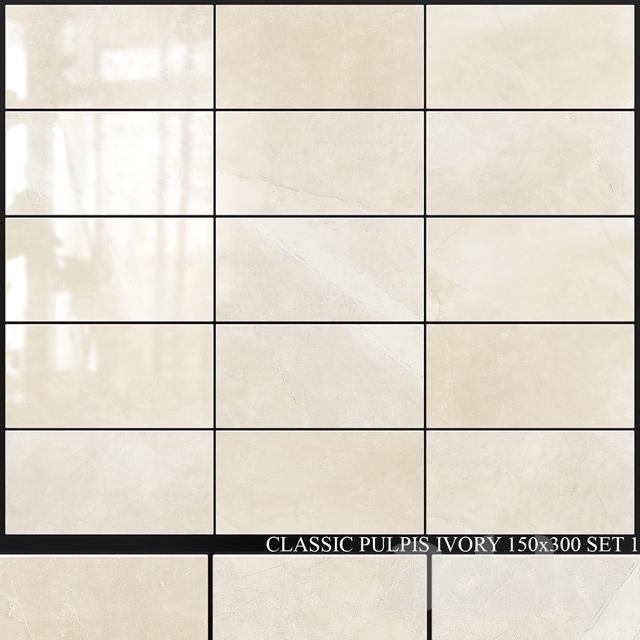 Yurtbay Seramik Classic Pulpis Ivory 150x300 Set 1