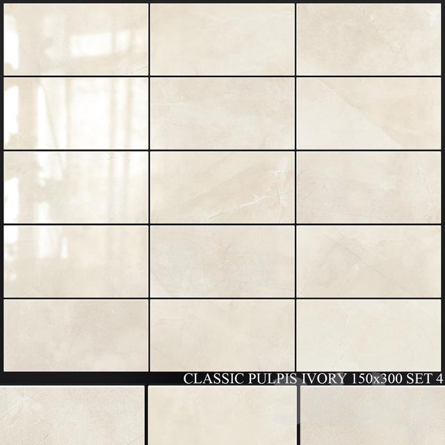 Yurtbay Seramik Classic Pulpis Ivory 150x300 Set 4