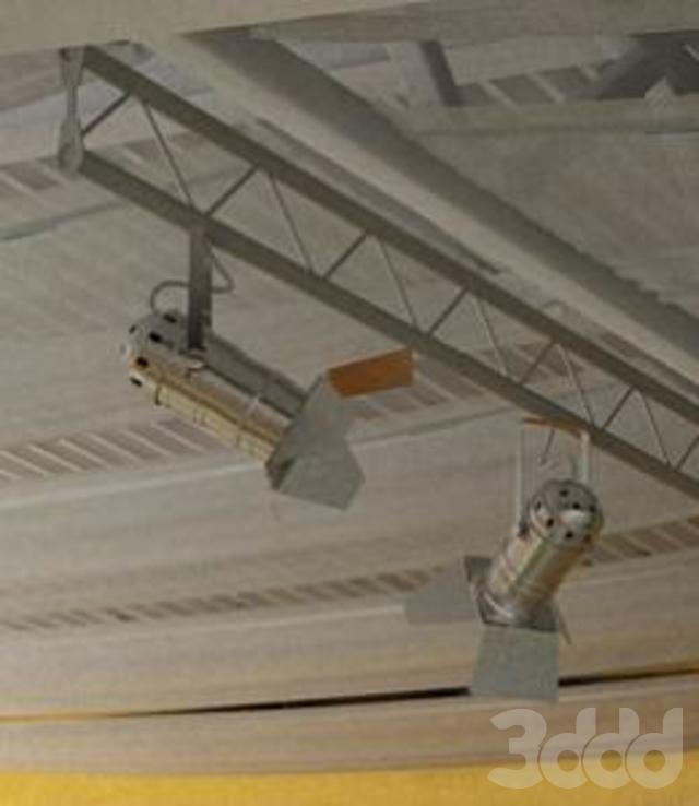металлическая конструкция с прожекторами