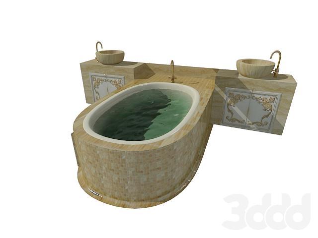 Ванна с 2-мя раковинами