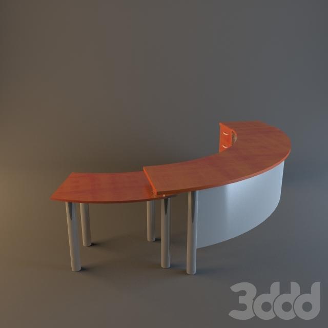3d модели: офисная мебель - стол офисный.