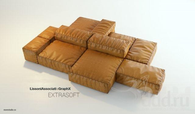 Extrasoft sofa Lissoni associati