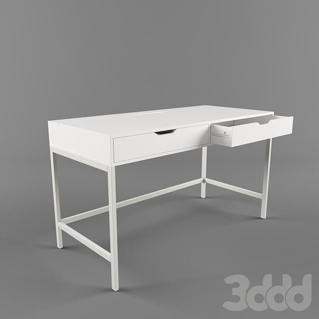 3d модели столы Ikea письменный стол алекс белый
