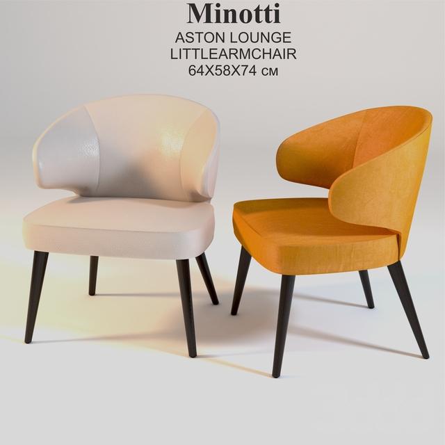 Minotti ASTON LOUNGE LITTLEARMCHAIR 64X58X74 см