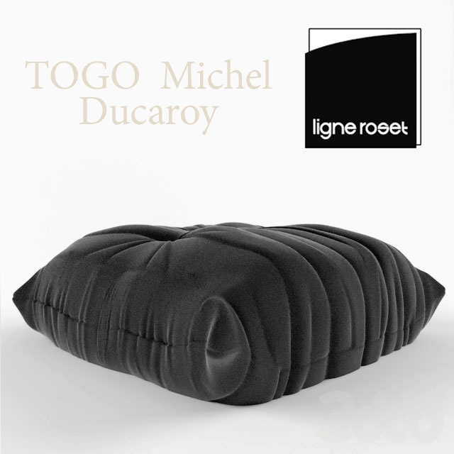 3d ligne roset togo pouf. Black Bedroom Furniture Sets. Home Design Ideas