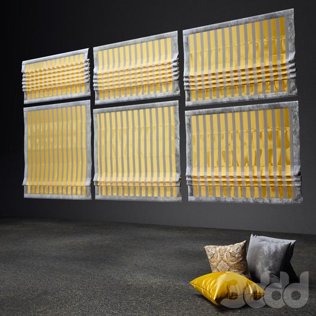 Римские шторы с подушками