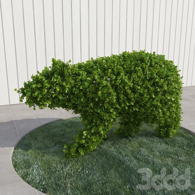 Медведь - топиари