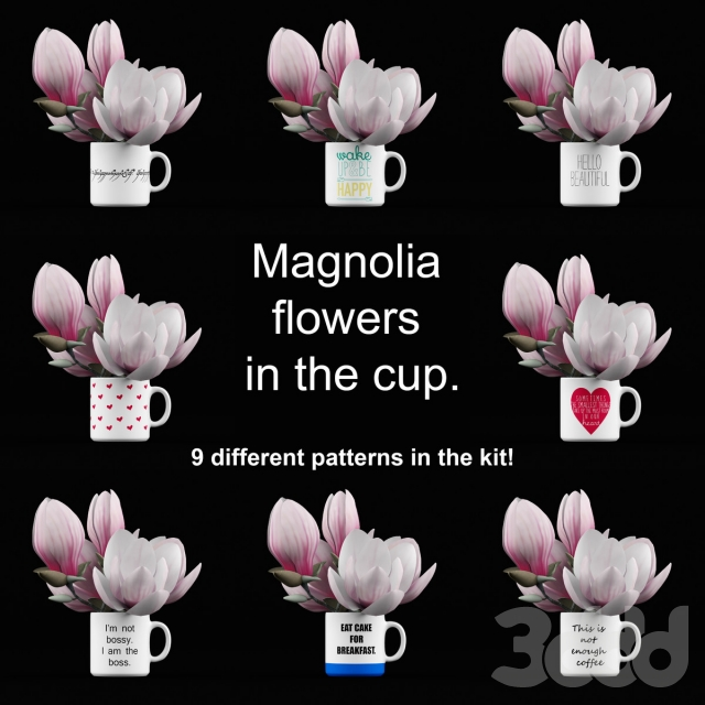 Magnolia in the cup
