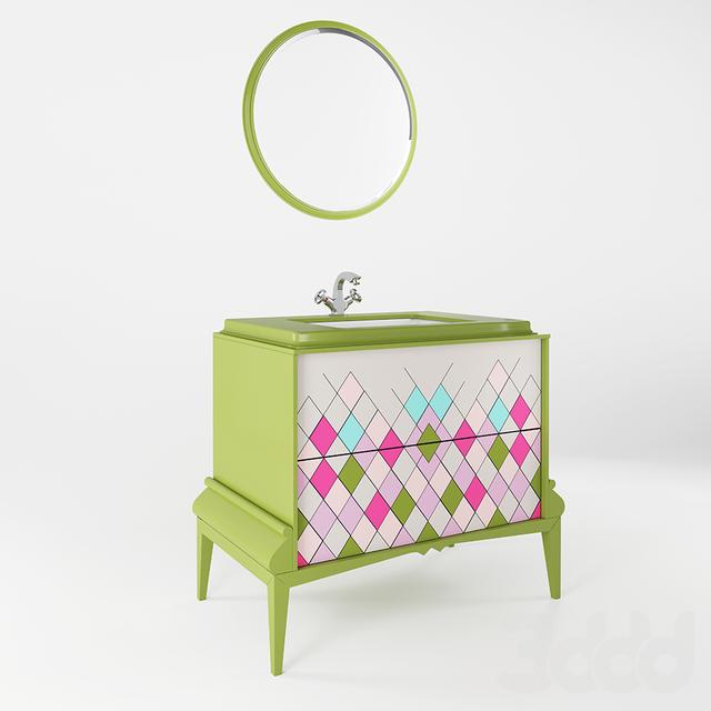MIRO MOBILI, зеркало и тумба, коллекция MIRO