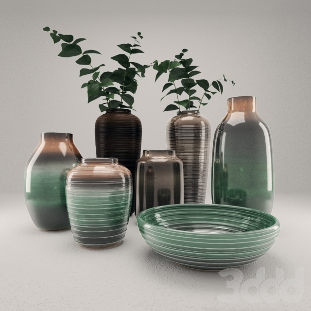 Vases Decor Set