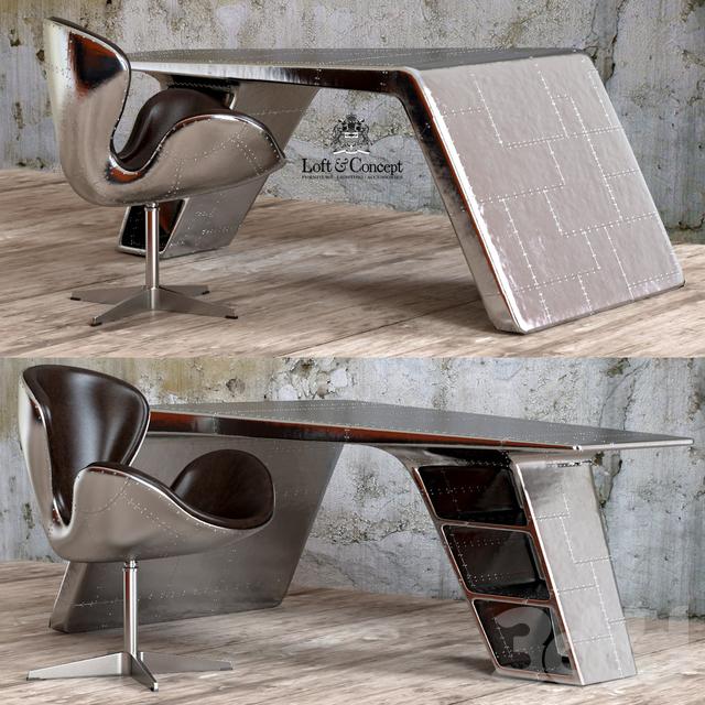 Кресло и рабочий стол Aviator