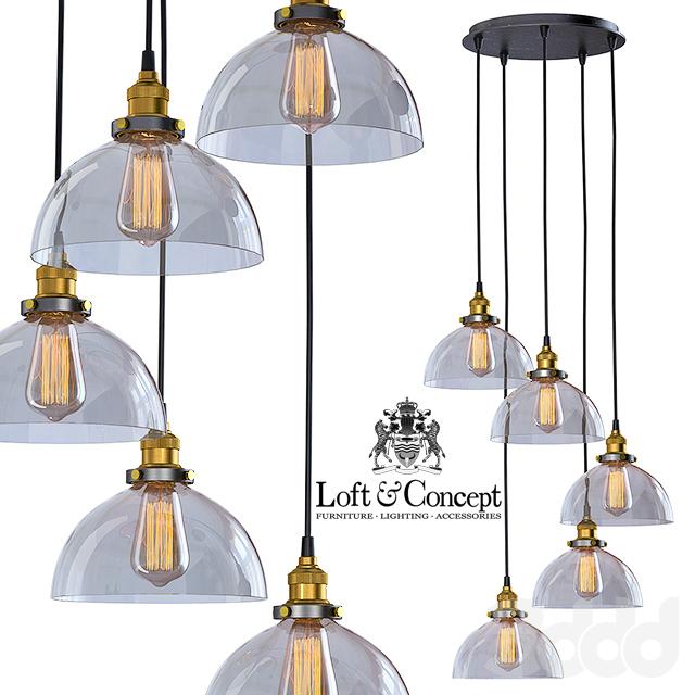 Подвесной светильник Loft Clear Glass SemiSphere Cloche 5