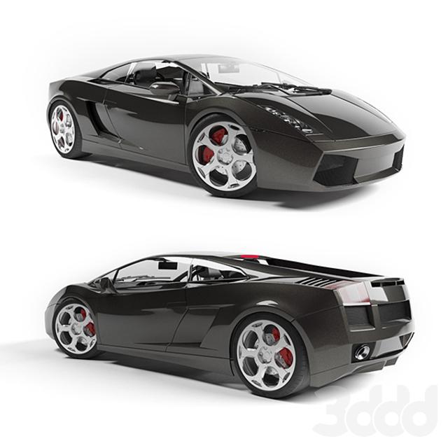 2011 Lamborghini Gallardo Exterior: 3d модели: Транспорт