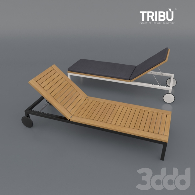 3d tribu natal alu teak lounger. Black Bedroom Furniture Sets. Home Design Ideas