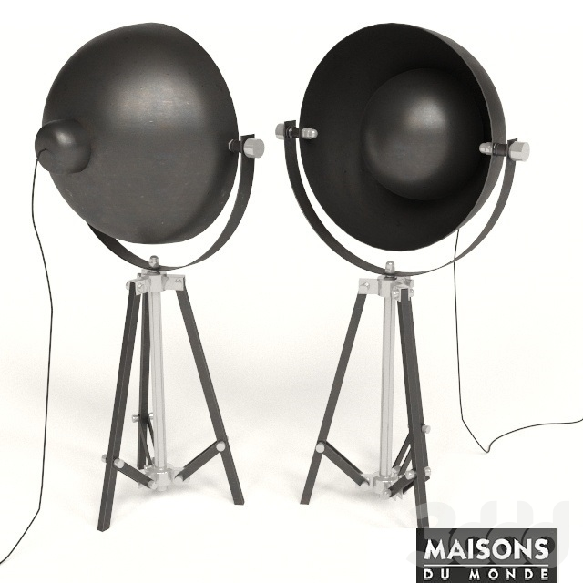 3d lampe photographe maisons du monde. Black Bedroom Furniture Sets. Home Design Ideas