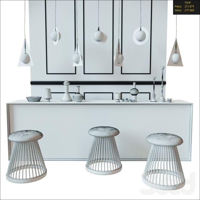 3d модели Другое Decorative Set From Tom Dixon