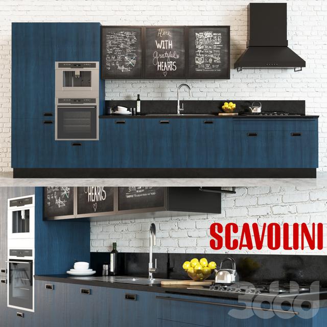 3d модели: Кухни - Scavolini Diesel Social Kitchen 2