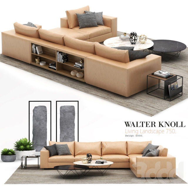 3d walter knoll living landscape 750. Black Bedroom Furniture Sets. Home Design Ideas