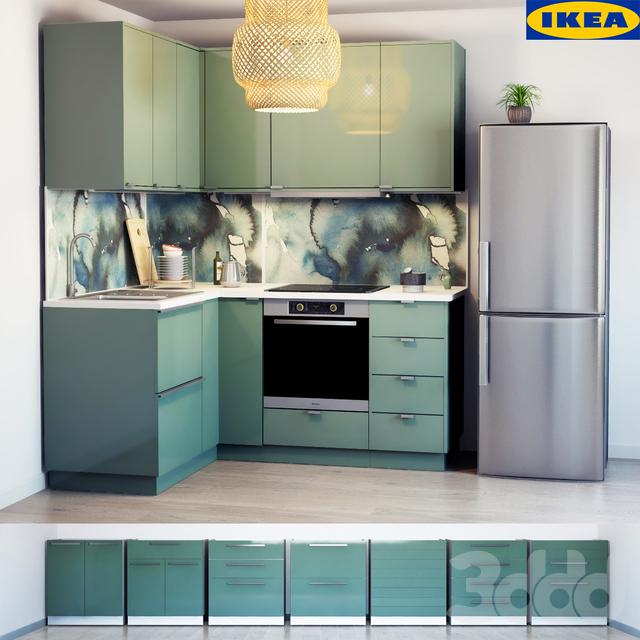 3d модели Кухни Кухня Kallarp ИКЕЯ
