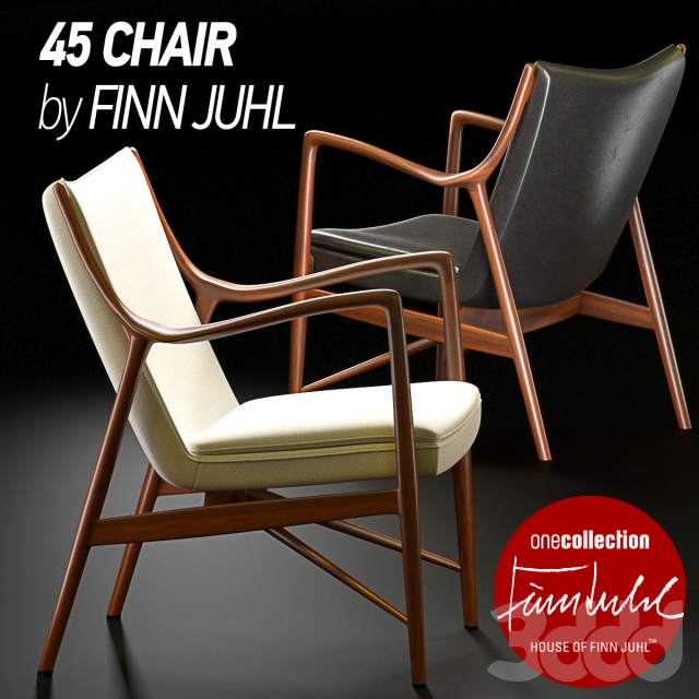 3d 45 Chair By Finn Juhl