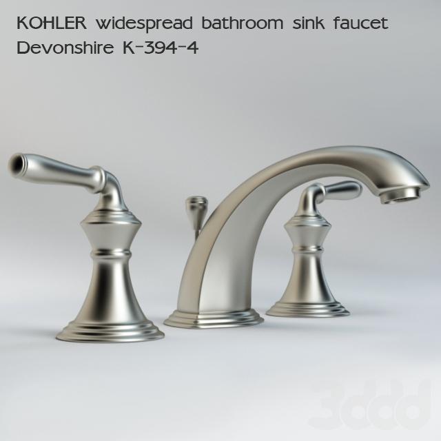 3d Kohler Widespread Bathroom Sink Faucet Devonshire K 394 4