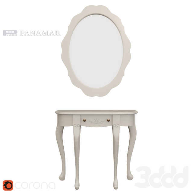 Panamar console and mirror